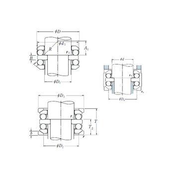 53307U+U307 ISO Cuscinetti a sfere di spinta